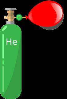 Heliumflasche mit Luftballon