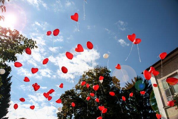 Luftballons zur Hochzeit - Luftballons zur Hochzeit - Herzballons