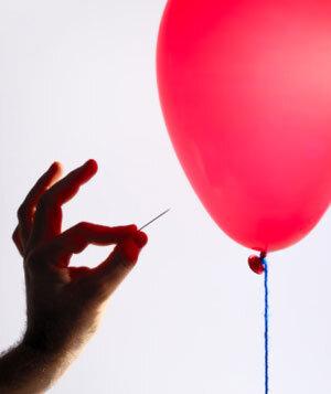 Luftballon-Zaubertrick: Die Nadel im Luftballon - Erklärung Luftballon-Zaubertrick: Die Nadel im Luftballon