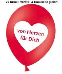Luftballons 2-seitig 1-farbig bedrucken - Ø 33-38cm A110