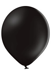 100 Luftballons Ø35cm - 025 schwarz pastell - A100