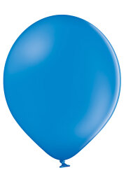 500 Luftballons Ø35cm - 012 mittelblau pastell - A100