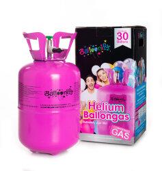 Heliumflasche 30 - Balloonify Helium inkl. Ventil - für bis zu 30 Heliumballons